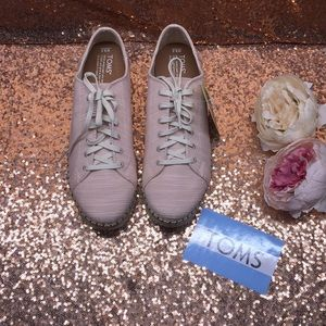TOMS Pink Lace Up Sneaker